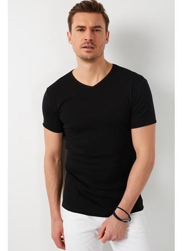 Buratti Buratti Basic Erkek T-Shirt 5902144 Siyah